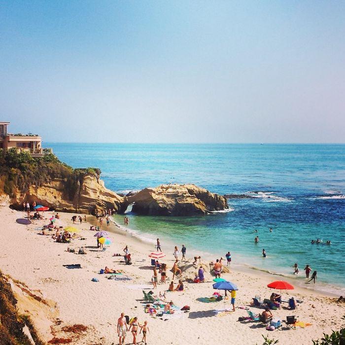 Laguna Beach Pearl St. Beach.