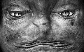 Alienation: Upside-Down Portraits Make People Look Like Aliens