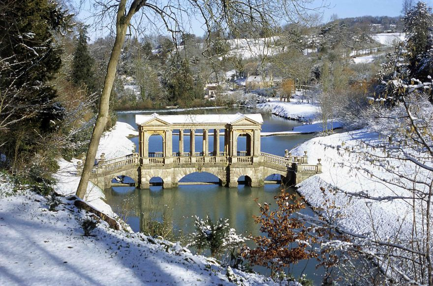 Palladian Bridge, Prior Park, Bath, Great Britain