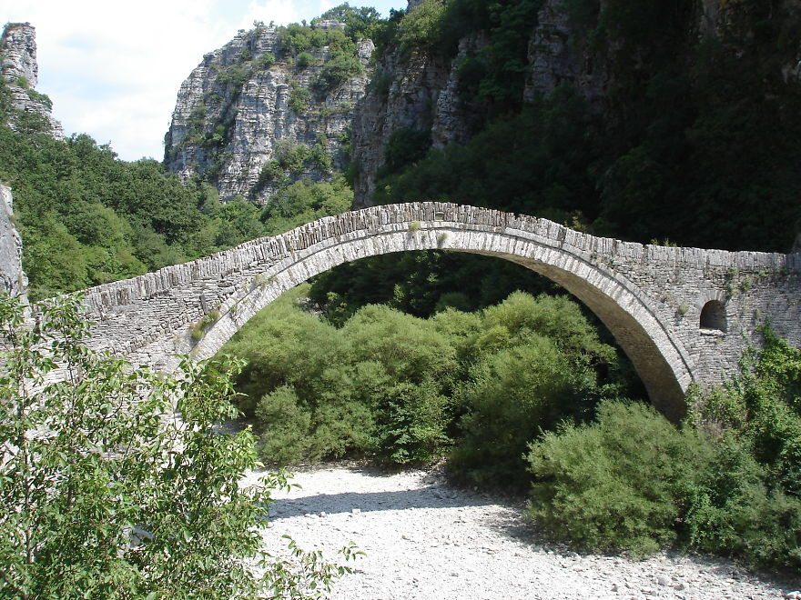 Kokori's Stone Bridge, Zagoria, Greece