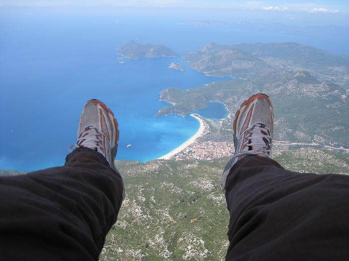 Heading Down To Olu Deniz...(paragliding)