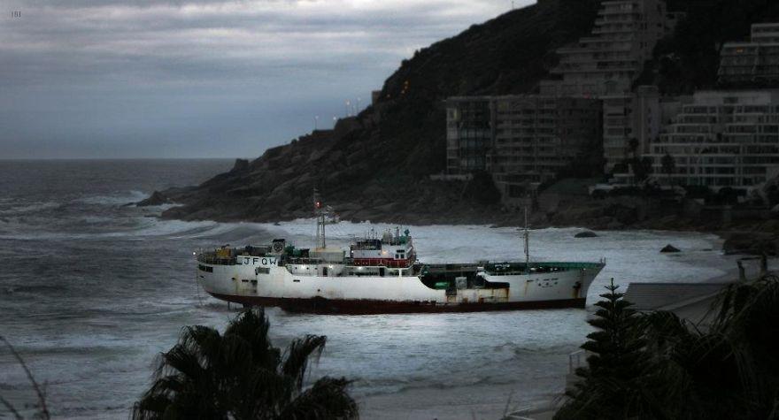 Japanese Boat Stranded-jasper Bailey