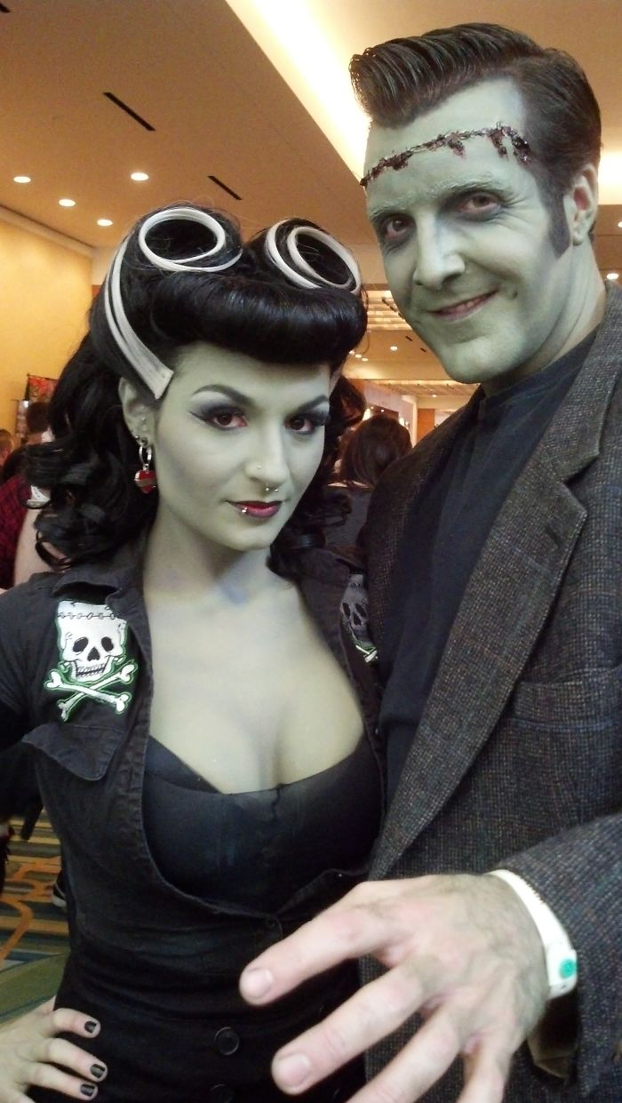 Rockabilly Bride Of Frankenstein And Monster