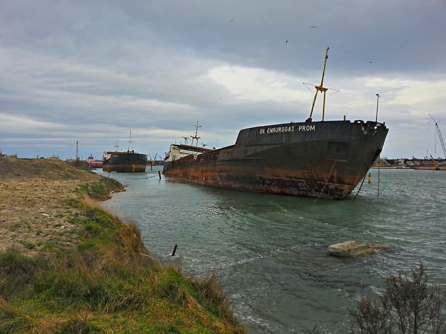 Abandoned Russian Ship In Ravenna, Italy