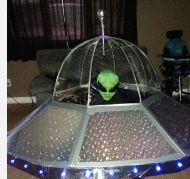 Alien In Spaceship (built Around Wheelchair)