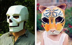DIY Geometric Paper Masks That You Can Print Out At Home