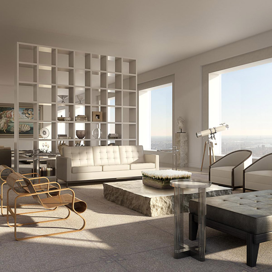 What it s like to live in a 95 million penthouse 1 396 for Avenue u living room