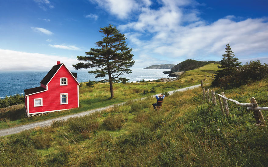 Red House In Tors Cove, Newfoundland & Labrador