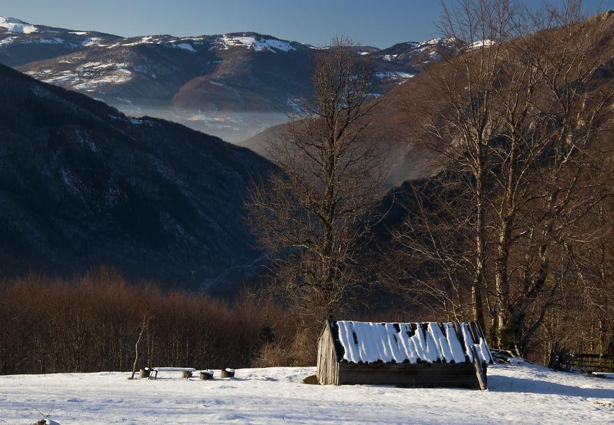 Shepherds' Hut In The Winter, Montenegro