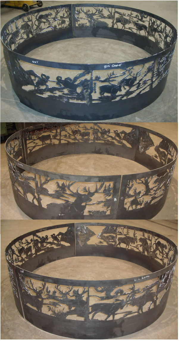 6ft Fire Ring I Hand Draw Them And Cut Them Out Freehand.no Cnc .brokenhillsteelart