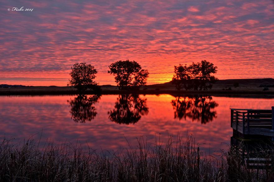 October Sunrise At The Fishing Hole