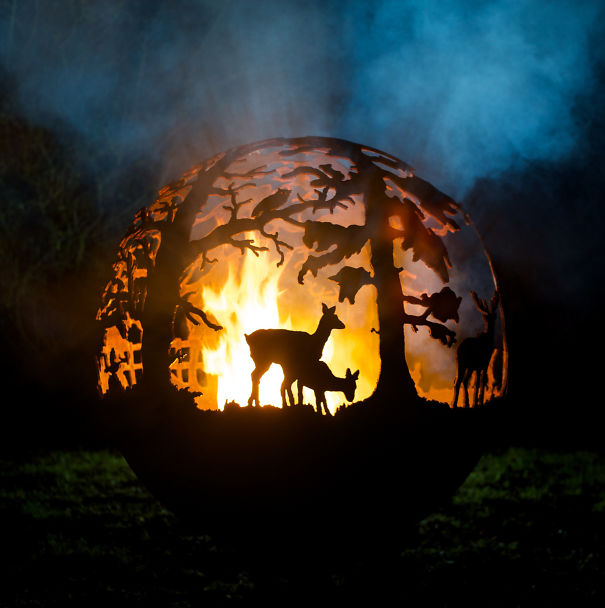 Forest Burning Fire Pit