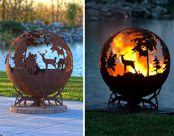 Burning Forest Fire Pit