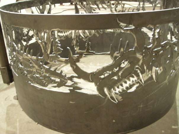 A Hodag Fire Ring Hand Drawn And Hand Cut By Me Brokenhillsteelart