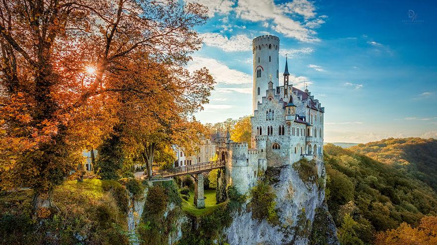 Golden October At Castle Lichtenstein