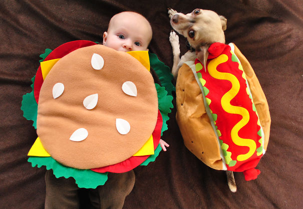 Fast Food Baby And Dog