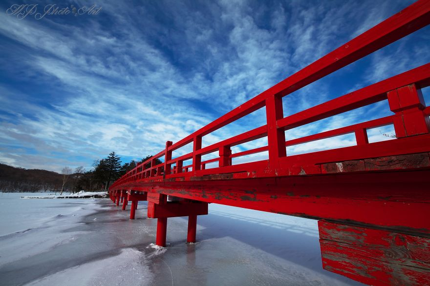 Bridge To The Akagi Shrine, Gunma, Japan