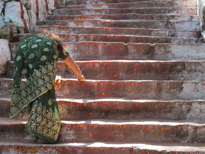 Steps To Chamundi Hill Temple, Mysore, India