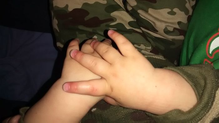 My 8 Month Old Baby Boy's Hands From Philadelphia, Pa
