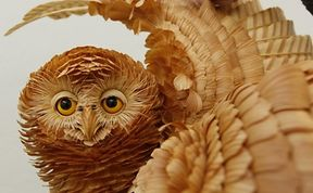 Lifelike Animals Formed With Wood Shavings