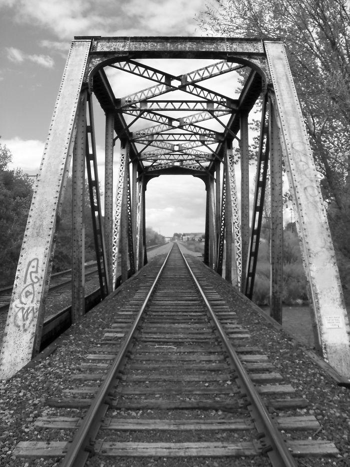 Train Bridge Over Provo River, Ut