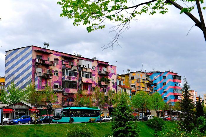 Tirana | Albania - Painted Buildings