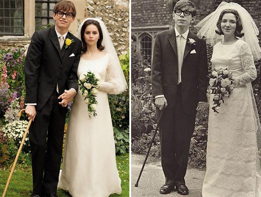 Eddie Redmayne And Felicity Jones as Jane And Stephen Hawking in The Theory Of Everything
