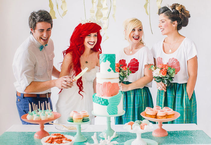 Little Mermaid-Themed Wedding For Your Inner Disney Geek | Bored Panda