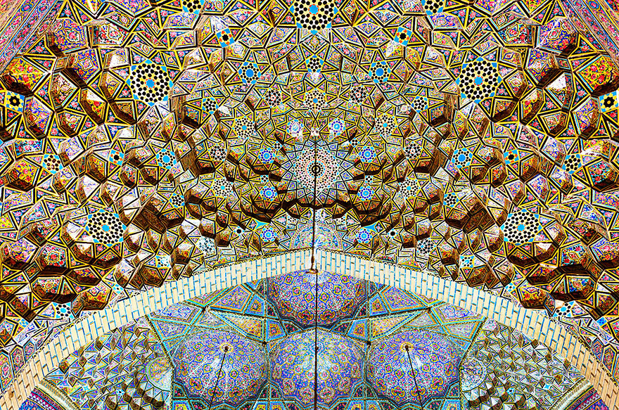 Mezquita Al-Mulk de Nasir, Shiraz, Irán