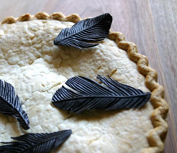 Chocolate Blackbird Feathers
