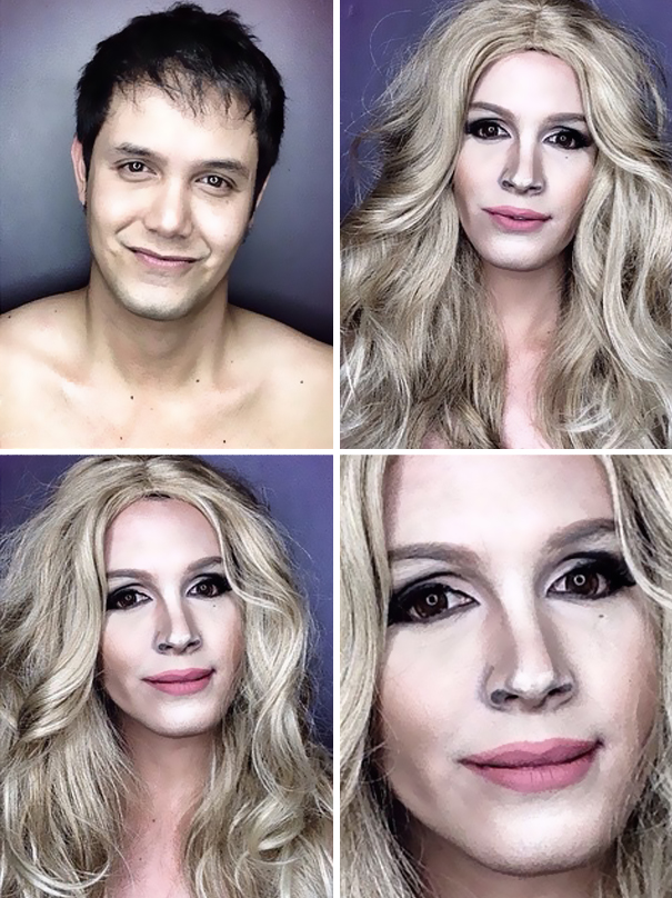 Amazing celebrity makeup transformations - YouTube
