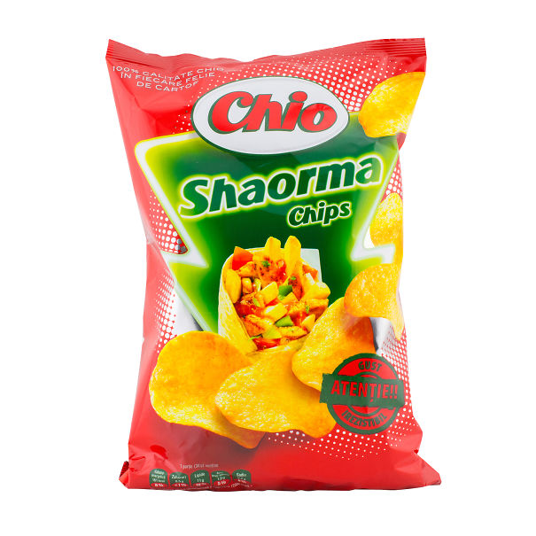 Shaorma Flavoured Chips From Romania