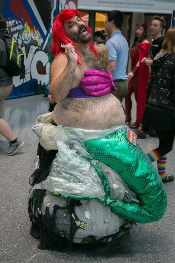 Beariel The Hairy Mermaid