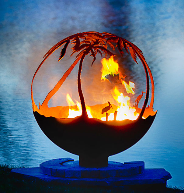 Tropical Forest Fire Pit