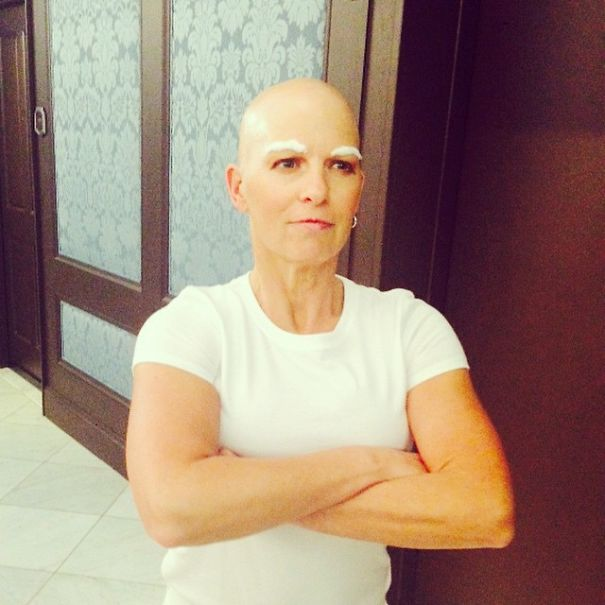 7 woman battling cancer as mr clean