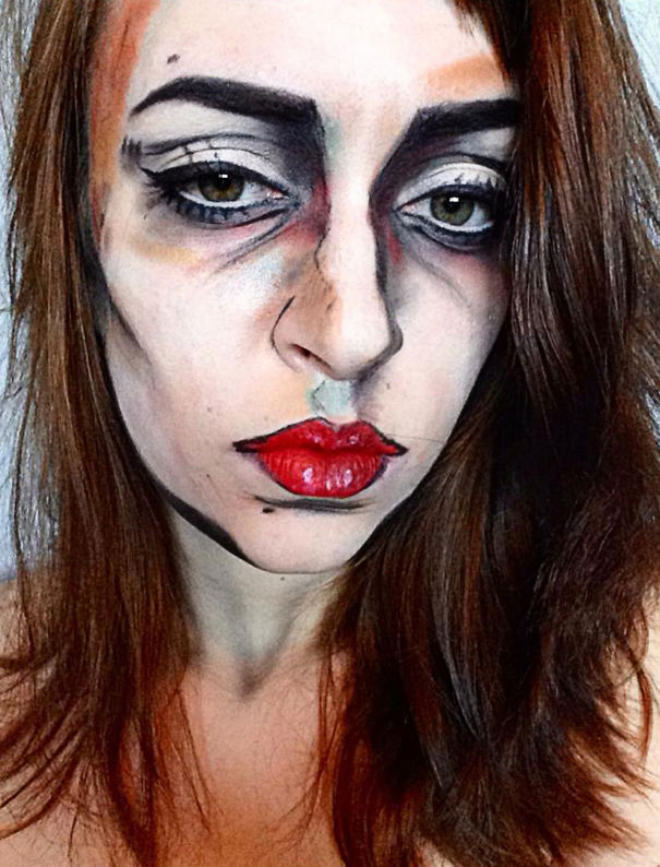 260 Of The Creepiest Halloween Makeup Ideas Bored Panda - Halloween-face-makeup