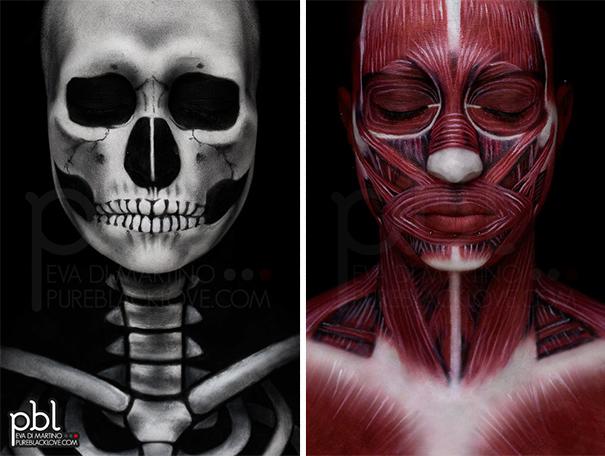 Human Anatomy Body Paint
