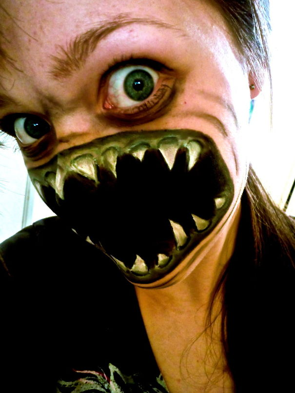 19 screaming demon - Scary Faces For Halloween With Makeup