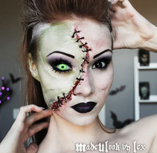 Gallery For gt Scary Halloween Makeup Ideas