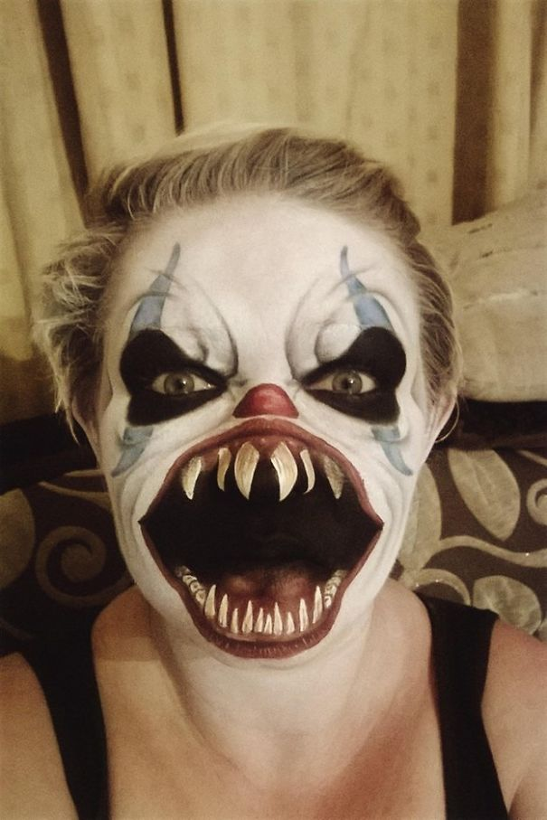 20+ Of The Creepiest Halloween Makeup Ideas | Bored Panda Simple Clown Makeup Men