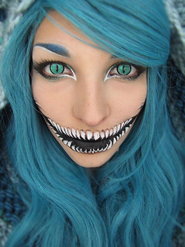 9 cheshire cat - Scary Faces For Halloween With Makeup