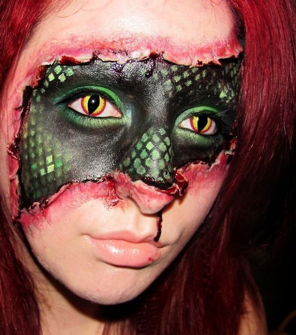 Snake In A Girls Costume