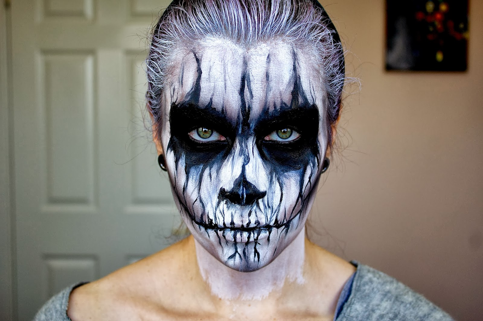 20 of the creepiest halloween makeup ideas bored panda - Image maquillage halloween ...