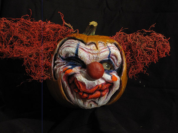 This guy makes the scariest pumpkin carvings ever bored