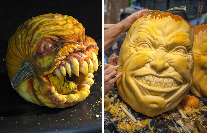 This Guy Makes The Scariest Pumpkin Carvings Ever
