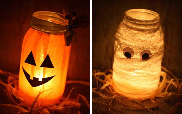 Halloweenish Jar Lanterns