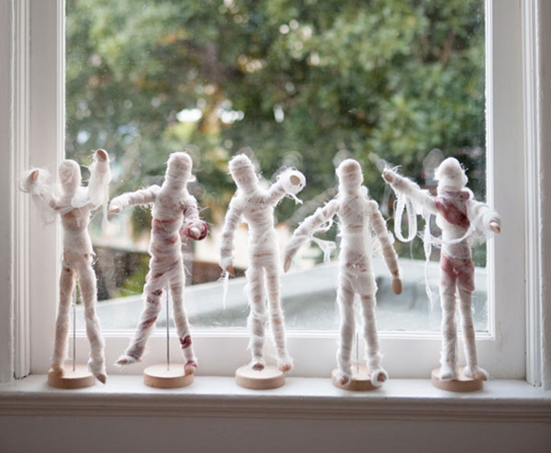 Wooden Ikea Manequins Mummies