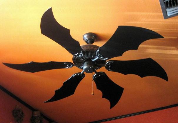 21 bat ceiling fan - Halloween Ceiling Decorations