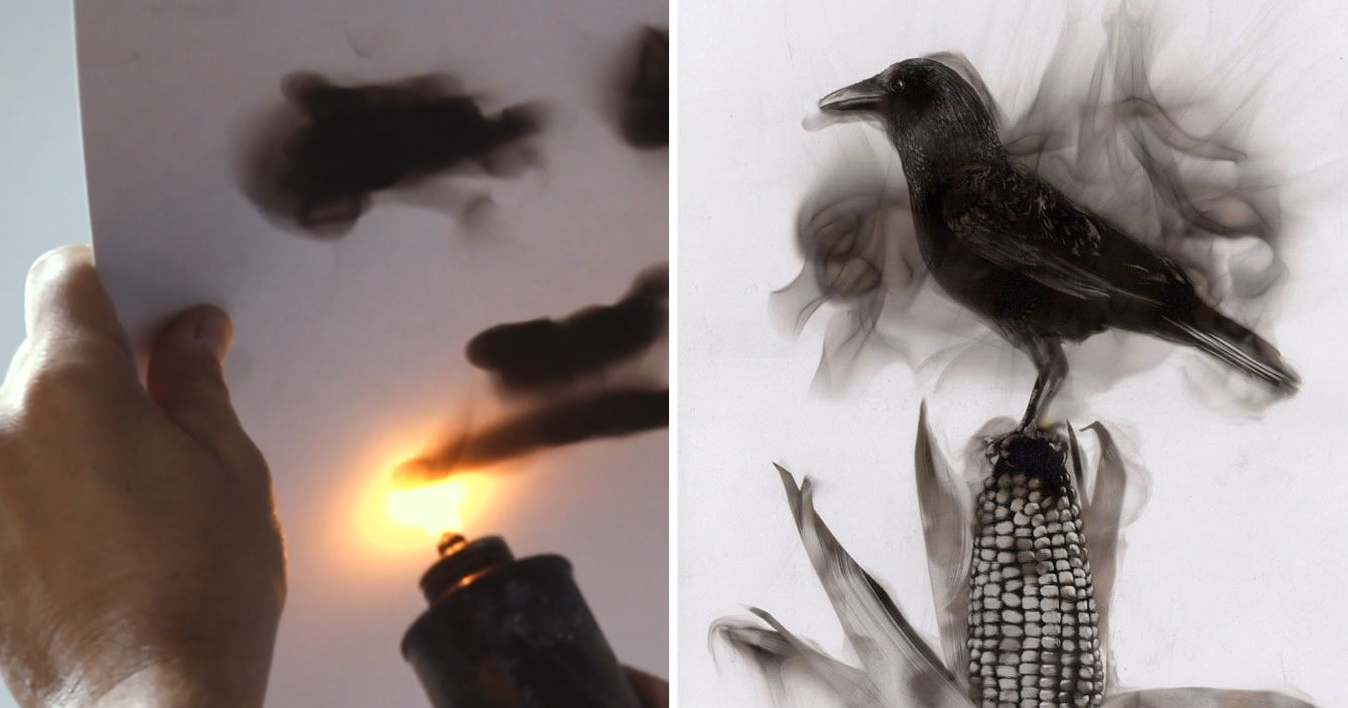 Fire Paintings: Artist Draws With Flames And Soot