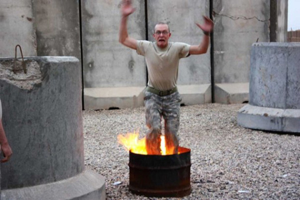 Having Fun While Testing The Fire-Resisting Pants